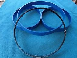 """3 BLUE MAX BAND SAW TIRES AND 1/4"""" BAND SAW BLADE FOR 28-560"""
