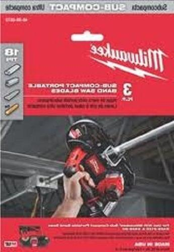 Milwaukee 48-39-0572, 27in x 18 tpi Sub-Compact Portable Ban